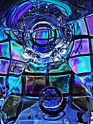 Cut Glass Prints - Glass Abstract 485 Print by Sarah Loft