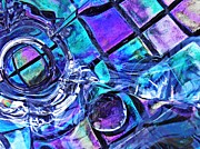 Cut Glass Prints - Glass Abstract 487 Print by Sarah Loft