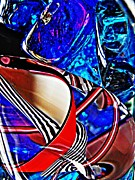 Twists Posters - Glass Abstract 504 Poster by Sarah Loft