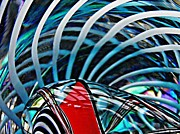 Twists Posters - Glass Abstract 512 Poster by Sarah Loft