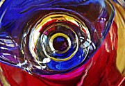 Psychadelic Framed Prints - Glass Abstract 572 Framed Print by Sarah Loft