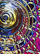 Cut Glass Prints - Glass Abstract 588 Print by Sarah Loft