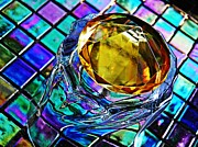 Cut Glass Prints - Glass Abstract 680 Print by Sarah Loft