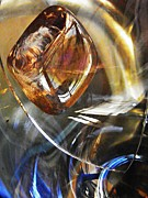 710 Prints - Glass Abstract 710 Print by Sarah Loft