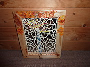 Frame Glass Art - Glass aspen by Lisa Stonequist