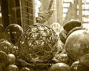 Glass Balls Japanese Glass Buoys Print by Artist and Photographer Laura Wrede