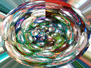 Glass Beads Prints - Glass Beads Print by Cheryl Young
