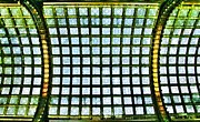Old Mills Photos - Glass Ceiling in Paris Court - Hungary - Budapest by Marianna Mills