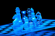 Chess Posters - Glass Chess Set 2384 Poster by Wesley VanDinter