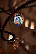 Stained Glass Mosaic Framed Prints - Glass Lantern Framed Print by Rick Piper Photography