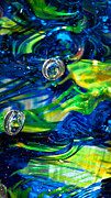 Glass Reflections Posters - Glass Macro - 13E4 Poster by David Patterson
