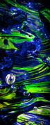 Bright Colors Art - Glass Macro Abstract 13R3 by David Patterson