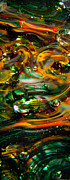 Bright Colors Art - Glass Macro Abstract EGO1 by David Patterson