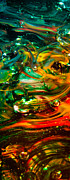 Glass Reflections Posters - Glass Macro Abstract EGO1CE Poster by David Patterson