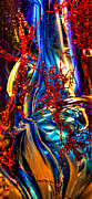 Blues Digital Art - Glass Macro Abstract M1 by David Patterson
