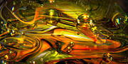 Glass Sculpture Prints - Glass Macro Abstract RGO1 Print by David Patterson