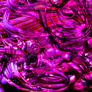 Glass Sculpture Prints - Glass Macro - Hot Pinks Print by David Patterson