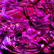 Glass Macro - Hot Pinks Print by David Patterson