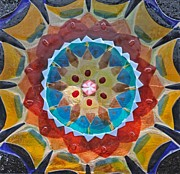 Fused Glass Art - Glass Mandala by Kendra Schneider