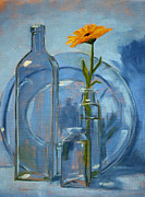 Glass Reflecting Painting Framed Prints - Glass Framed Print by Nancy Merkle