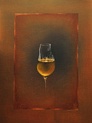 Beer Oil Paintings - Glass of Beer by Donatas Zadeikis
