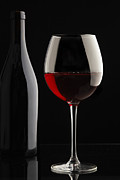 Wine-bottle Prints - Glass of Red Wine Print by Andre Goncalves