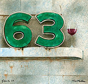 Wine-glass Paintings - Glass Of Sixty Three... by Will Bullas