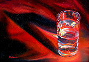 LaVonne Hand - Glass of water on Red