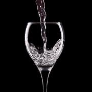 Glass Of Water Print by Tom Mc Nemar