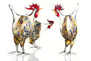 Glasswork Framed Prints - Glass Poultry Framed Print by Dirk Ercken