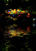 Rowboat Posters - Glass Sculpture Balls in Rowboat Poster by Amy Cicconi