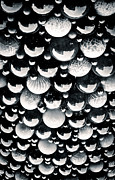 White Maltese Photos - GLASS SKY blown glass spheres of Mdina glass in Malta by Andy Smy