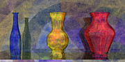Cyan Prints - Glass Still Life - Primary - AMCG - 24032013 Print by Michael C Geraghty
