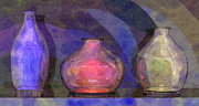 Michael Digital Art Posters - Glass Still Life - Rotund - AMCG - 23032013 Poster by Michael C Geraghty