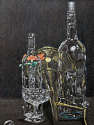 Glass Drawings - Glass Still life by Steve Cost
