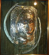 Face  Glass Art - Glass Super Star by Nada Debelic