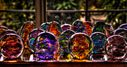 Bright Colors Glass Art Metal Prints - Glass Symphony Metal Print by David Patterson