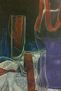 Glass Wall Drawings - Glassware and Vases Still-Life by Mackenzie Wade