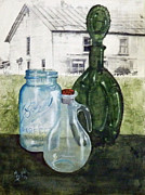 Cruet Framed Prints - Glassworks Framed Print by Maureen Diehl