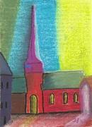 Germany Pastels Metal Prints - Glemroda Metal Print by John Williams