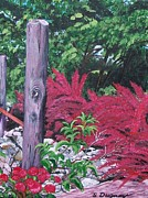 Fushia Prints - Glen Cairn Entrance Print by Sharon Duguay