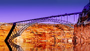 Page Bridge Digital Art - Glen Canyon Bridge Fantasy by Tim Richards