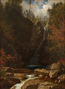 Famous Artists - Glen Ellis Falls by Albert Bierstadt