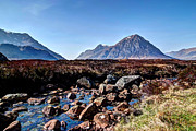 Etive Mor Framed Prints - Glen Etive Framed Print by Jim Sloan