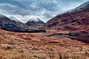 Munroe Framed Prints - Glen Etive Scotland Framed Print by Walter Hampson