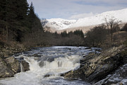 Winter Landscape Digital Art Prints - Glen Orchy Scotland Print by Pat Speirs