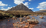 Etive Mor Framed Prints - Glencoe mountain scenery Framed Print by Grant Glendinning