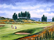 Pga Paintings - Gleneagles - The Kings Course by Bill Holkham
