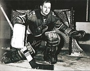 Goaltender Metal Prints - Glenn Hall Poster Metal Print by Sanely Great