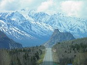 Alaska Greeting Cards Posters - Glenn Highway and the Chugach Mtns Poster by Sharon Casavant